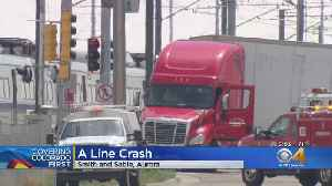 Semi Driver Cited Following Crash With A Line Train [Video]