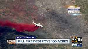 Mill Fire burning near Crown King estimated at 100+ acres [Video]