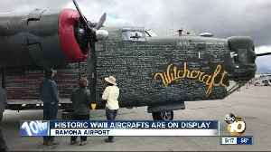 Historic WWII aircrafts are on display [Video]