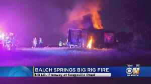 I-635 Semi Fire Closes Highway For Hours [Video]