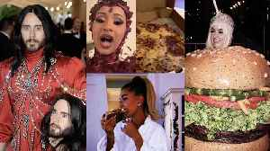 Met Gala: Jared Leto's Head Sparks Dirty Jokes, Cardi B & Hailey Get Pizza, and J.Lo is Unfazed by Katy Perry's Burger Outfit [Video]