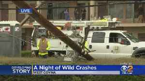 2 Wild Crashes Just A Mile, Minutes Apart In West Covina Unrelated [Video]