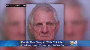 'F*** It, I'm Drunk, Take Me To Jail': Florida Man Crashes Lawn Mower Into Police Car [Video]