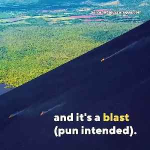 Nothing To See Here: Just People Blasting Down An Active Volcano [Video]