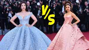 Aishwarya Rai Cinderella Gown VS Deepika Padukone Barbie Doll Look | Fashion Face-Off [Video]