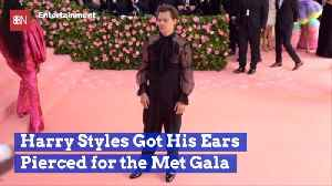 Harry Styles Made A Fashion Sacrifice For The 2019 Met Gala [Video]