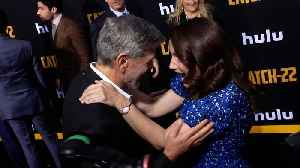 George Clooney and Kristin Davis Candid Moment [Video]