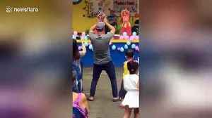 Supportive Filipino father steals the show after dancing along with daughter [Video]