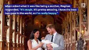 Meghan Markle and Prince Harry Share First Photos With The Royal Baby [Video]