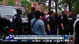 Police arrest protesters following protracted sit-in at Johns Hopkins against ICE contracts, university police [Video]