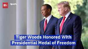 President Trump Gives The Medal of Freedom To Tiger Woods [Video]