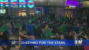 Stars Fans Cheer On Team From Afar In OT [Video]