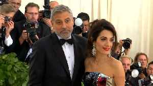 George Clooney's babies are already pranksters [Video]