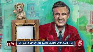 Nashville artist creates 'Mister Rogers' portrait with items from the Fred Rogers archive and wife [Video]