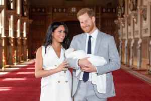News video: Meghan Markle and Prince Harry Share First Photos With The Royal Baby