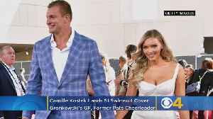 Rob Gronkowski's Girlfriend & Former Patriots Cheerleader Camille Kostek Lands SI Swimsuit Cover [Video]