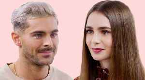 Zac Efron and Lily Collins Take a Friendship Test [Video]