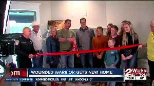 Wounded vet and family get mortgage-free home in Claremore [Video]
