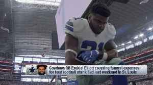 Dallas Cowboys running back Ezekiel Elliott covering funeral expenses for young football star killed by stray bullet