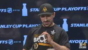 Brad Marchand Says Bruins Are 'On To Round 3' [Video]