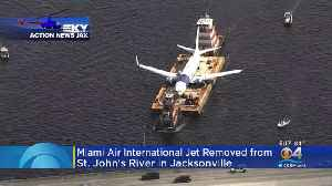 Miami Jetliner Removed From Jacksonville River [Video]