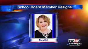Pam Hill announces resignation from school board [Video]