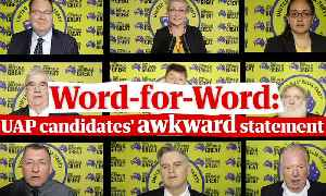 Clive Palmer's candidates filmed making the same awkward election statement – video [Video]