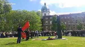 People gather at London's Imperial War Museum to commemorate Victory Day [Video]