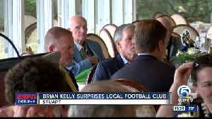 Brian Kelly visits Notre Dame club of Stuart 5/8 [Video]