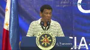 Cockroach crawls up Philippines' Duterte during live speech [Video]