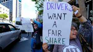 Rideshare protestors strike in more than 20 cities worldwide [Video]