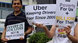 Uber and Lyft drivers protested low pay this week [Video]