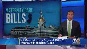 NJ Gov. Murphy Signs 4 Bills To Improve Maternity Care [Video]