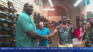 Shaq Helps Teen Buy Size 18 Shoes [Video]