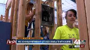 Construction education partnership gives students a diploma and a degree [Video]