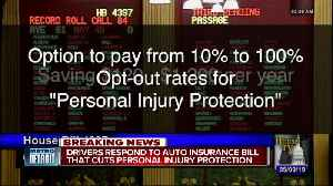 Drivers respond to auto insurance bill cutting personal injury protection [Video]