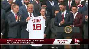'It's a very high honor' Red Sox players visit White House [Video]