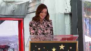 Anne Hathaway Gets Star On Hollywood Walk Of Fame [Video]