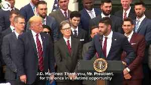 WEB EXTRA: Red Sox at White House [Video]