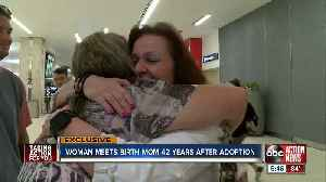 Mother's Day weekend to remember: Tampa Bay area woman meets birth mom for the first time at TIA [Video]