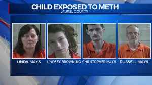 Four people accused of exposing a child to meth in Laurel County [Video]