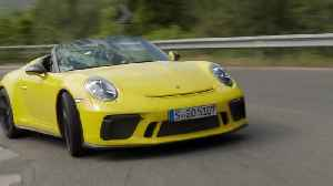 Porsche 911 Speedster in Racing Yellow Driving Video [Video]