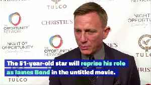Daniel Craig Is 'Helping to Rewrite Bond 25 Script' [Video]