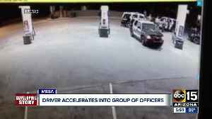 Mesa officer, two MCSO deputies hit by car in Circle K parking lot [Video]