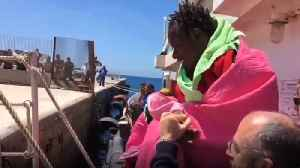 Migrants Recovered in Mediterranean Disembark on Italian Island [Video]