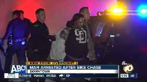 Police arrest man who led officers on bike chase in downtown San Diego [Video]