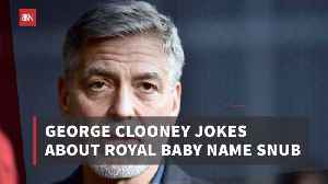 News video: George Clooney Makes Comments About Duchess Meghan's Baby