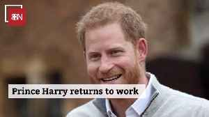 Prince Harry Is A Working Man [Video]