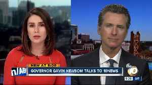 Governor Gavin Newsom talks to 10News [Video]