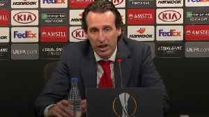 News video: Emery praises Aubameyang and Lacazette after Europa League win